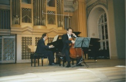 With Swedish cellist Mikael Ericsson, 2001