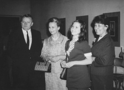With father, Prof. Marie Hlouňová and mother, 1971